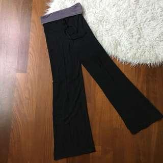 Grey banded yoga stretchy pants