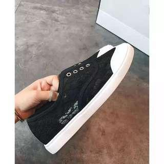 Black Lace Laceless Sneakers size 35-39