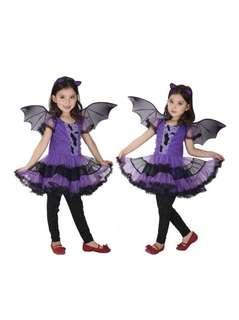 EOZY fashion Halloween costume girls bat cosplay dress children