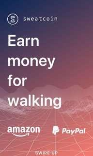 Earn extra cash by walking with Sweatcoin!