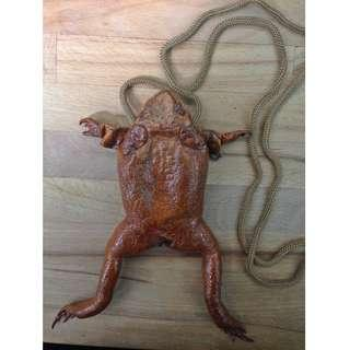 Frog shaped sling bag
