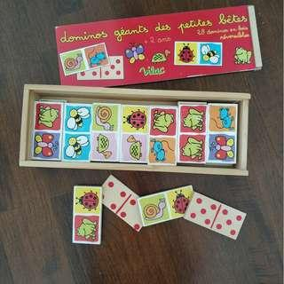 Wooden Dominoes Toy Box