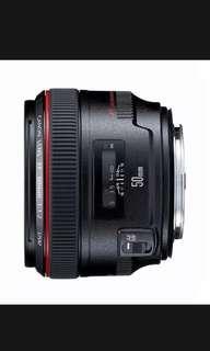 Canon 50mm 1.2 L