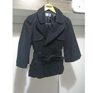 韓國黑色短身外套