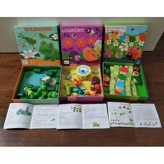 3 Djeco Games for kids aged 2 to 4