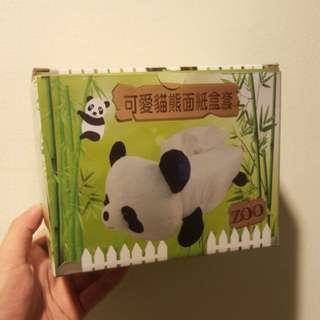 貓熊面紙盒套