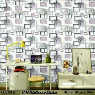 Wallpaper sticker murah cantik