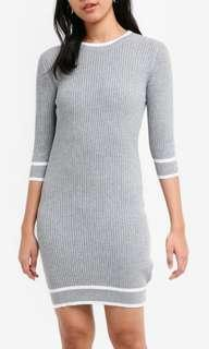 Knitted Striped Bodycon Dress