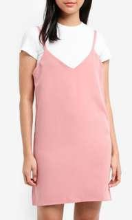 2-in-1 Slip Dress with Tee