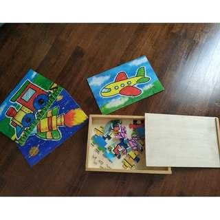 4 Puzzles for kids