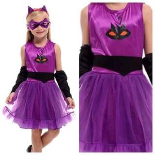 IN STOCK Catgirl costume kids cat costume children's day costume girl superhero costume Halloween costume