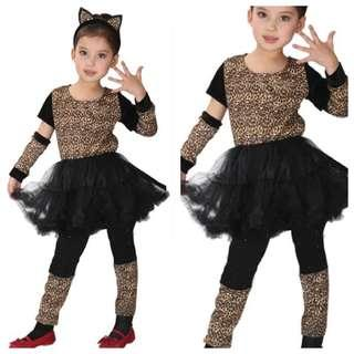 IN STOCK Girl cat costume catgirl costume cheetah costume leopard costume children's day costume female superhero costume Halloween costume