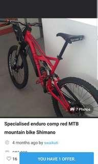 Specialized enduro comp mountain bike MTB