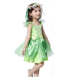 IN STOCK Kids tinkerbell costume fairy costume girl fairy costume children's day costume Halloween costume