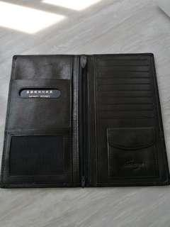 Leather wallet (passport / boarding pass size)