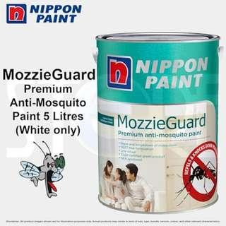 Nippon Paint Mozzieguard 5 Litres Premium Anti-Mosquito Paint Odourless Easywash