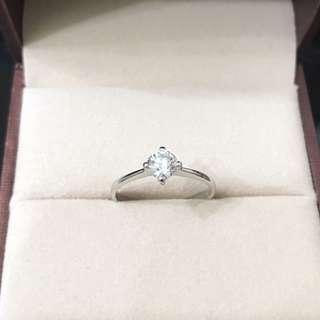 18K 0.42ct Diamond Ring