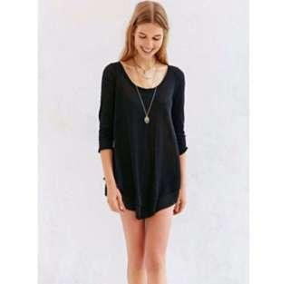 (FREE NM) European Leisure Loose Chiffon Dress/TOP