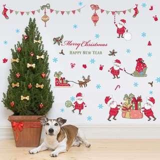 Christmas Wall Glass Sticker