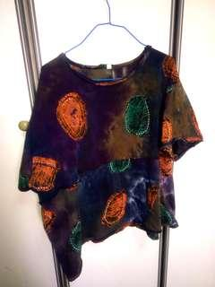 Grunge dyed plus sized top