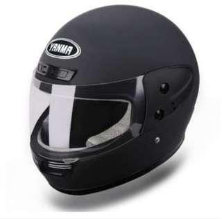 Yanma Matte Black fullface Motorcycle Riding Helmet