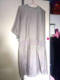 Grey asymmetric Calvin Klein dress