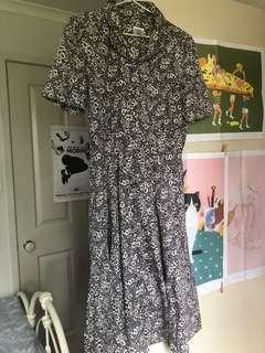 Vintage Laura Ashley midi dress