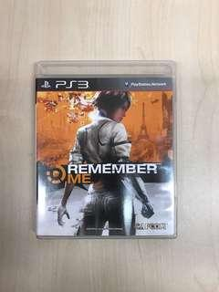 PS3 Game Remember Me