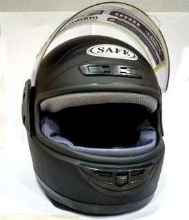 Matte Black fullface Go Kart Motorcycle Riding Helmet