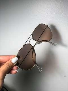 Rayban Aviator - Gradient Brown in Large