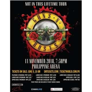 20% off Guns N' Roses Concert Nov.11