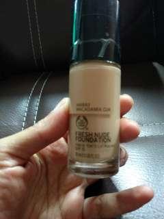 The bodyshop fresh nude foundation