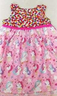 Unicorn girl dress size 6 last piece