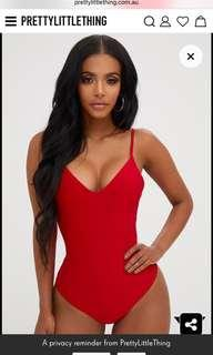 Red Bodysuit, size 10, brand new!