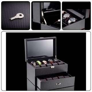 High Grade 20 Slots 2-Tier Watch Organiser