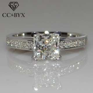 🚚 Women Sterling 925 Engagement Ring US 4