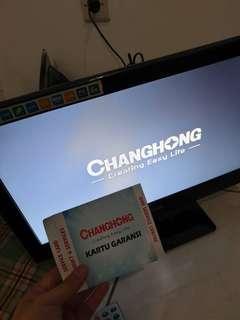 Tv changhong 19inc