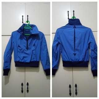 WA937 Njs Blue Vintage Jacket - see pics for Measurements & flaw