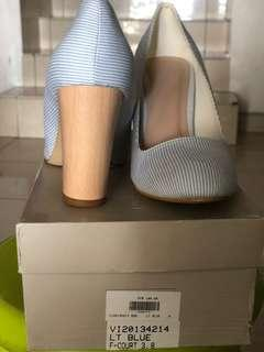 Vincci blue stripes heels