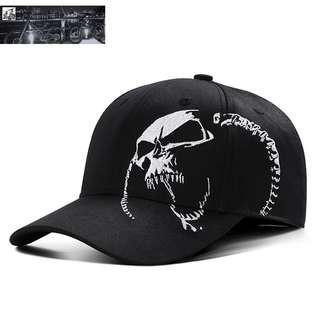 🆕! Evil Skeleton Black Skull Trucker Cap   #OK