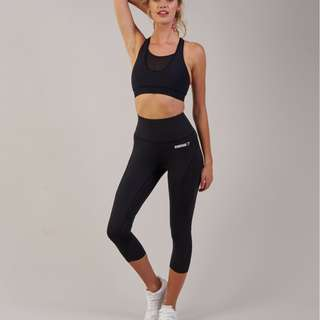 fcfbac86f085b1 Gymshark Fusion 2.0 Mesh Cropped 7/8 Leggings Tights Black XS