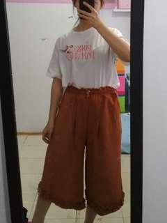 celana panjang kulot coklat -  pants