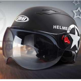 BYB ATV Go Kart Vespa Helmet (Matte Black)