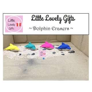 Dolphin Erasers suitable as party gifts