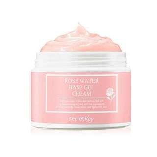 Secret key rose water base gel cream 100g