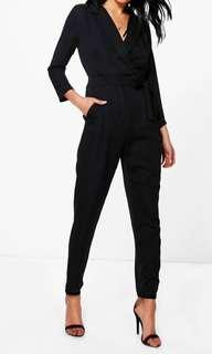 Boohoo Black slim fit jumpsuit