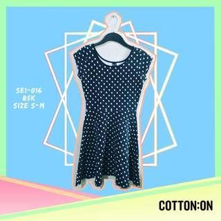 Cotton On Blue Polka Dress