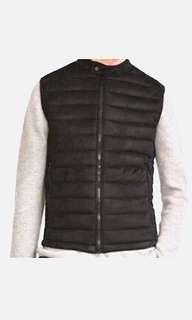 ZARA MAN Black Quilted Vest
