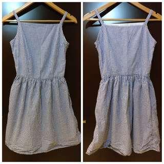 Blue gingham dress 裙