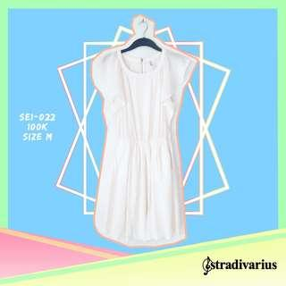 Stradivarius Off White Dress
